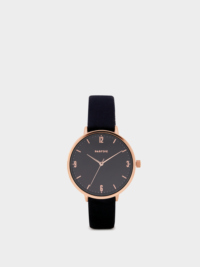 Watch With Rose Gold Details, Blue, hi-res