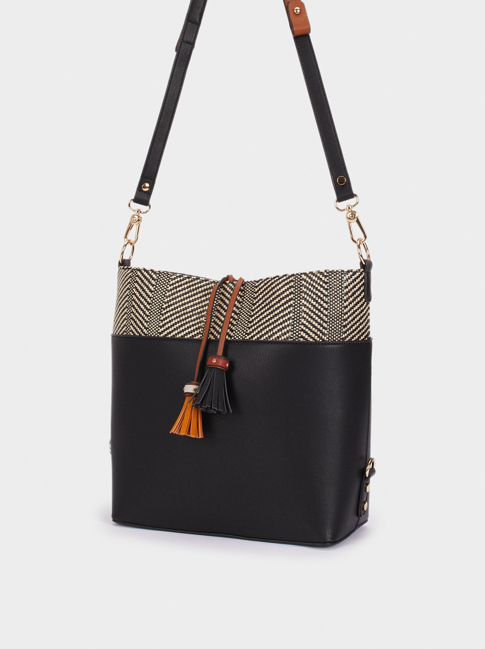 Elisa Tote Bag, Black, hi-res