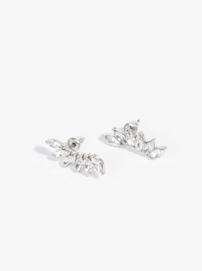 Basic Short Ear Cuff Earrings, Silver, hi-res