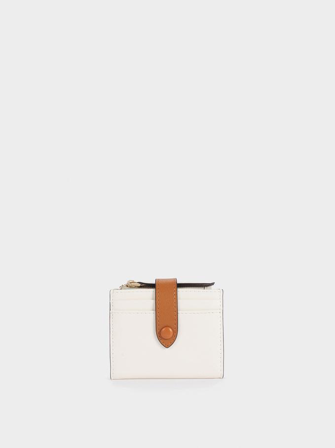 Plain Card Holder Purse, Ecru, hi-res