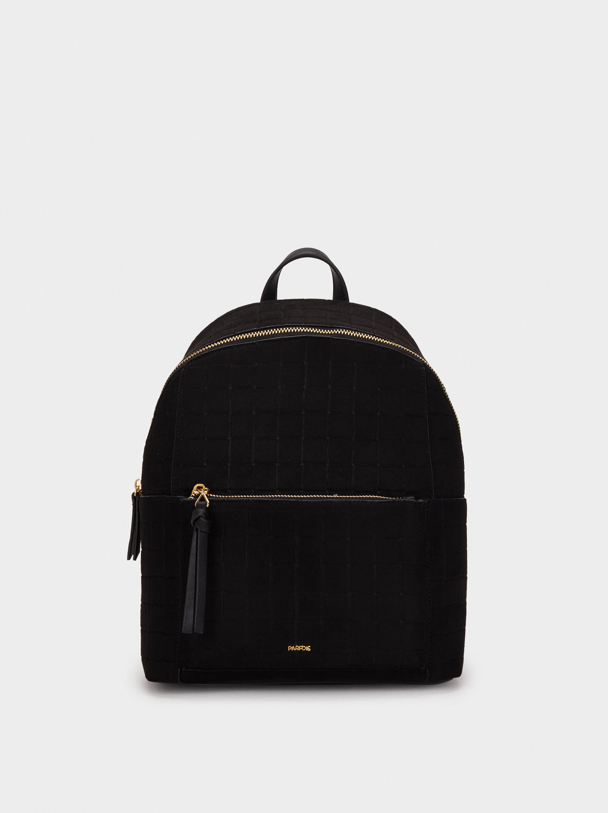 Suede Texture Backpack, , hi-res