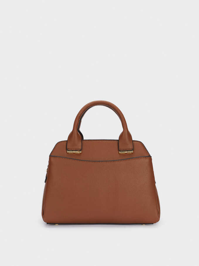 Tote Bag With Removable Strap, Camel, hi-res