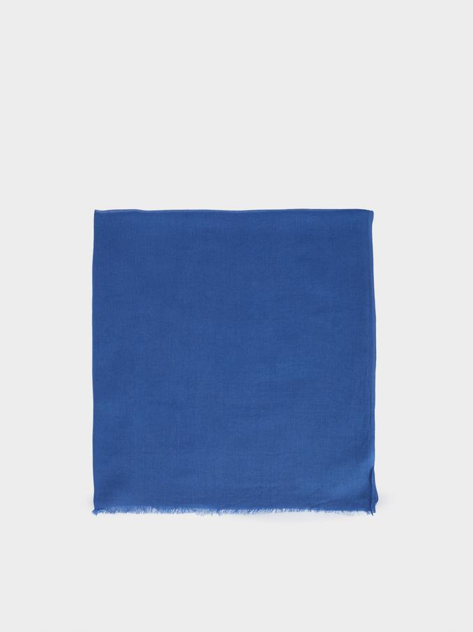 Plain Modal Pashmina, Blue, hi-res