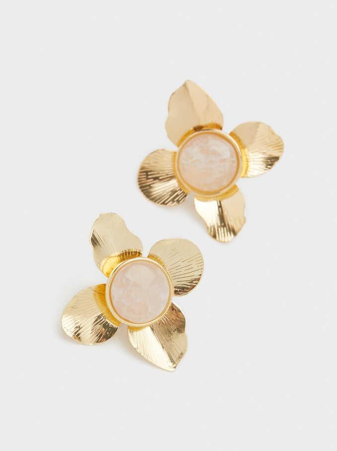 Pendientes Cortos Exclusive Collection Flor, Rosa, hi-res