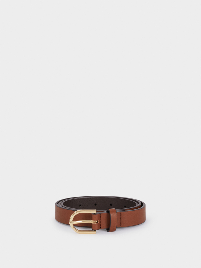 Belt Made From Recycled Materials, Camel, hi-res