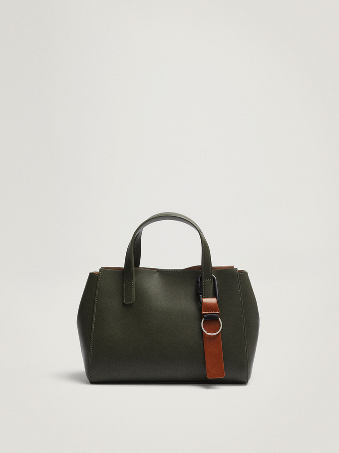 Tote Bag With Removable Interior, Khaki, hi-res
