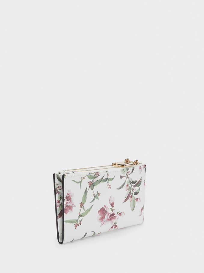 Cartera Estampado Floral, Crudo, hi-res