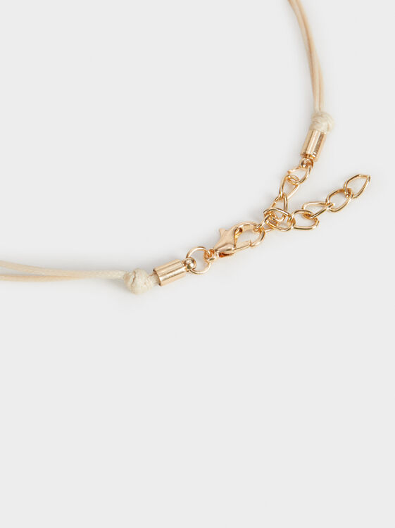 Short Land Necklace With Pendants, Multicolor, hi-res