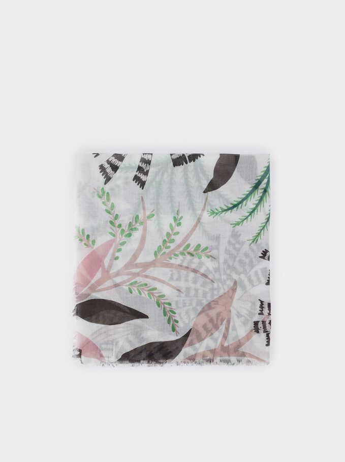 Pañuelo Estampado Floral, Crudo, hi-res