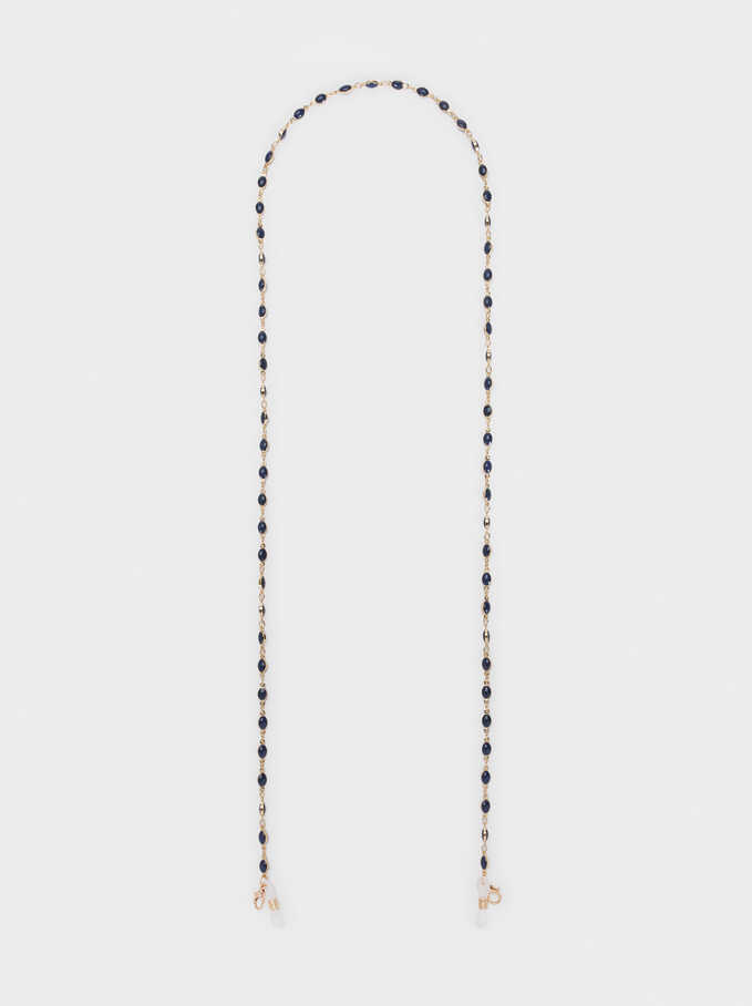 Chain For Face Masks Or Glasses, Navy, hi-res