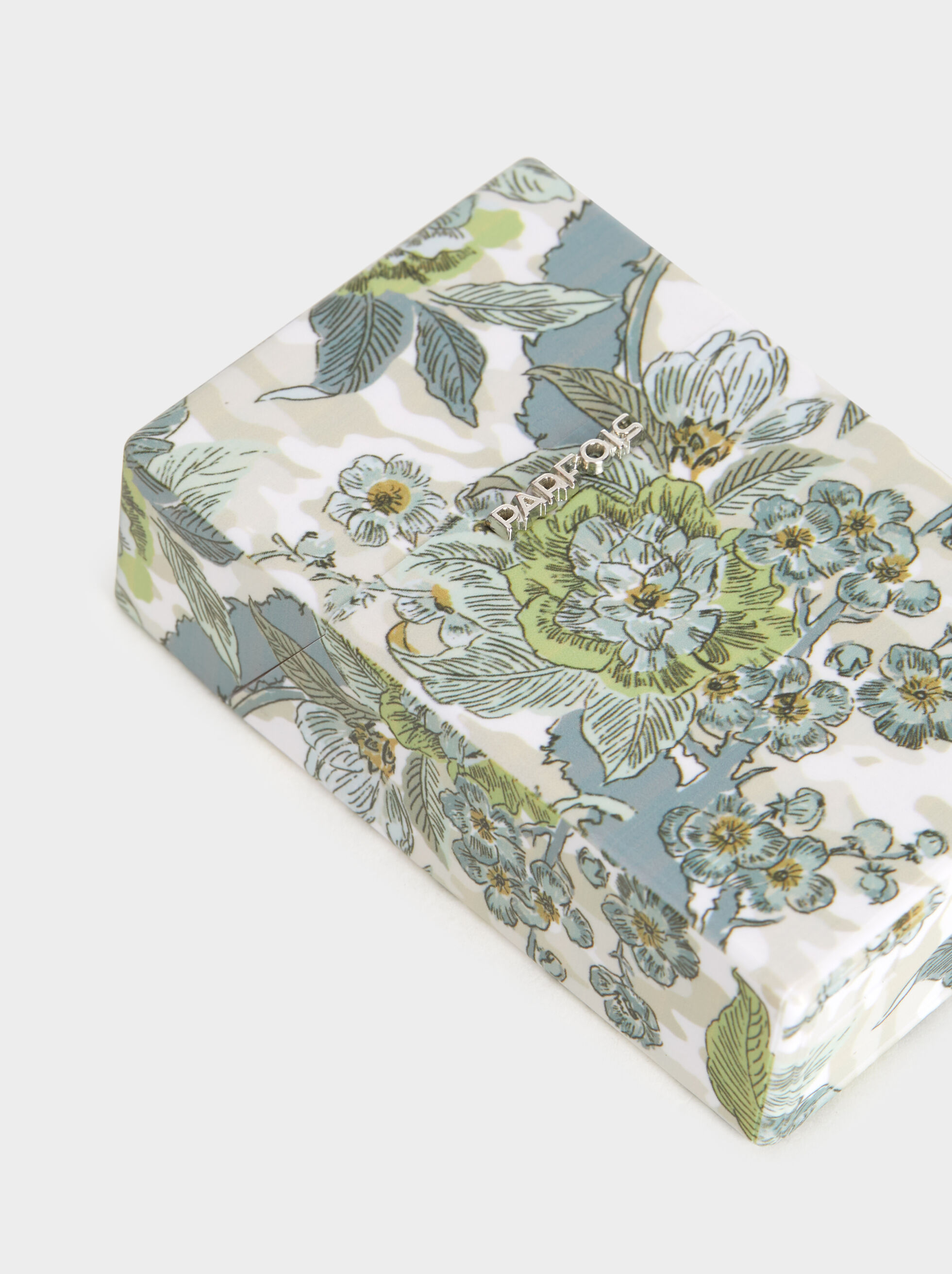 Regular Floral Print Cigarette Box, Blue, hi-res