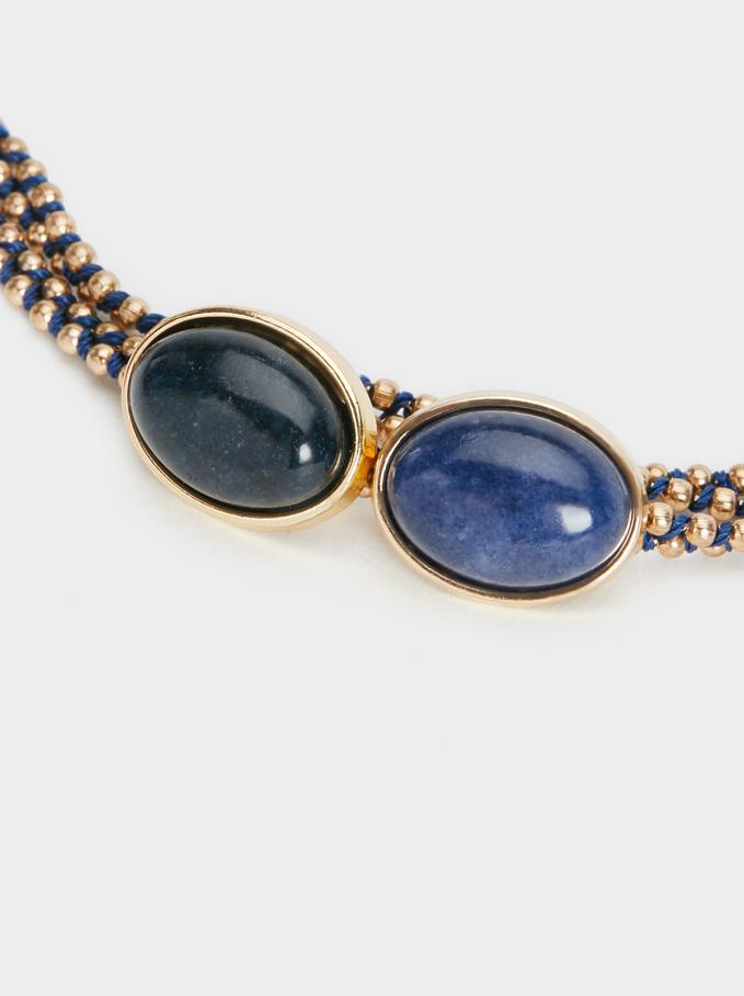 Bracelet With Stone Motif, Multicolor, hi-res