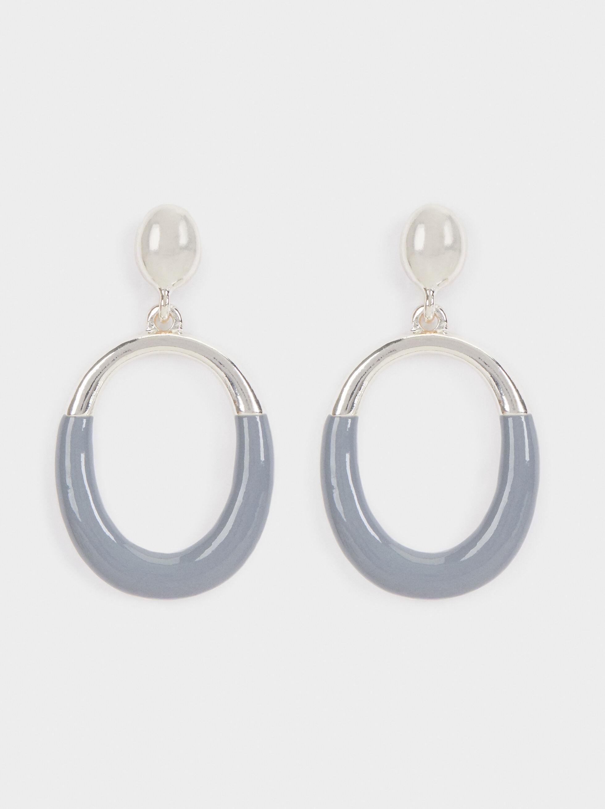 Magnolia Two-Tone Long Earrings, Multicolor, hi-res