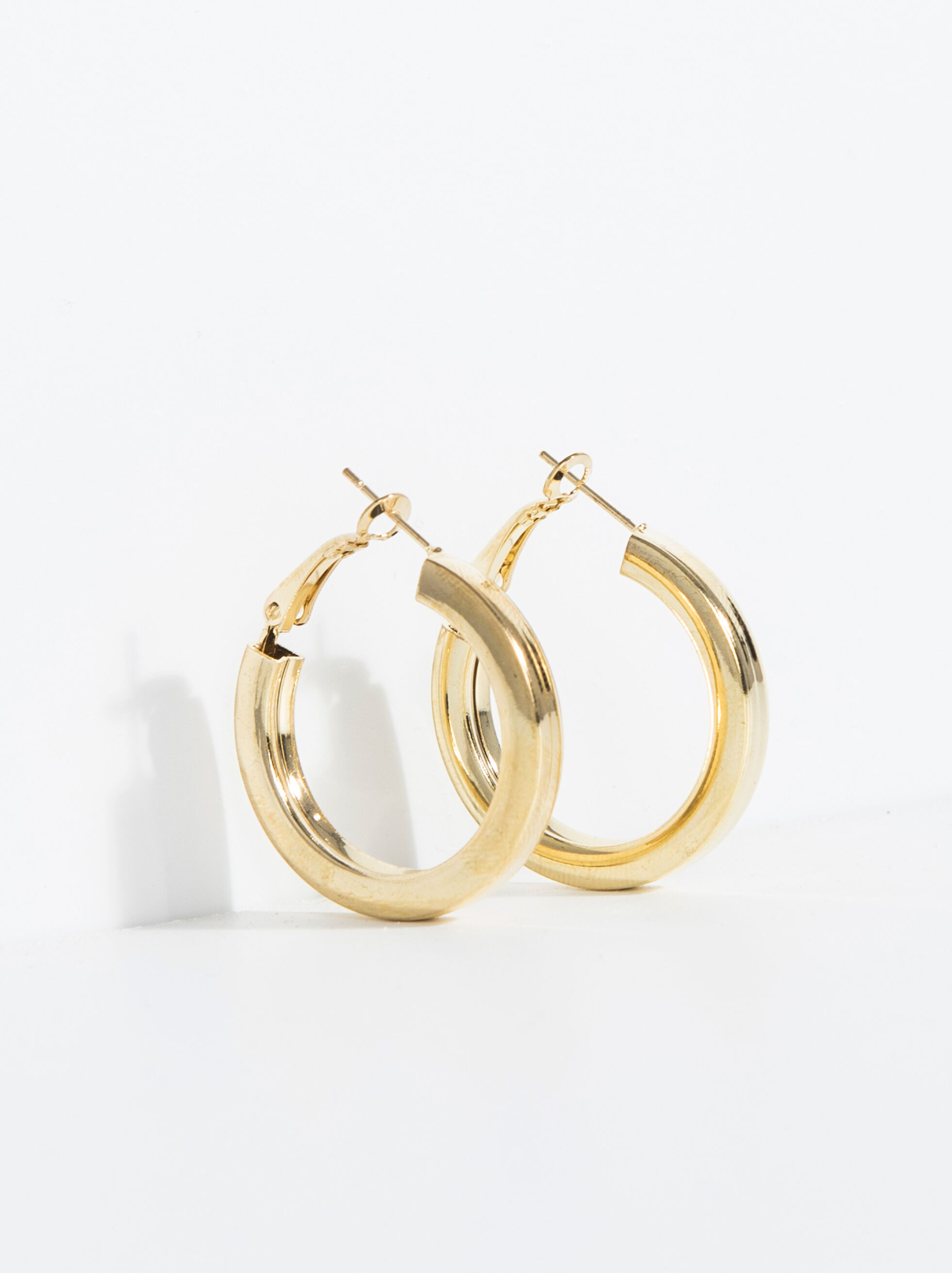 earrings golden dentenza hoop gold plated product ring