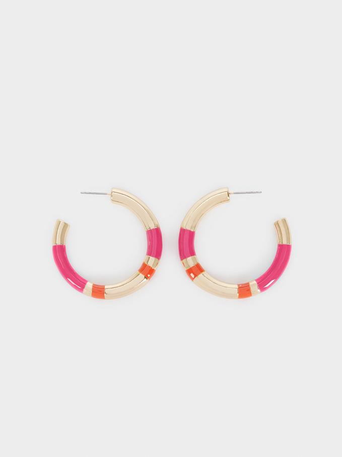 Recife Medium Hoop Earrings, Multicolor, hi-res