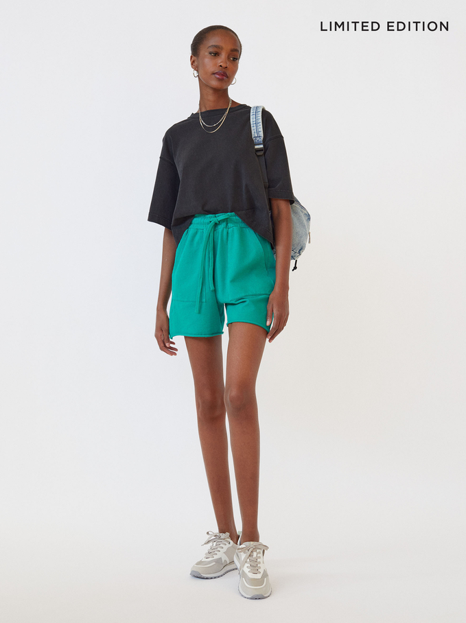 Limited Edition Shorts With Pockets, Green, hi-res