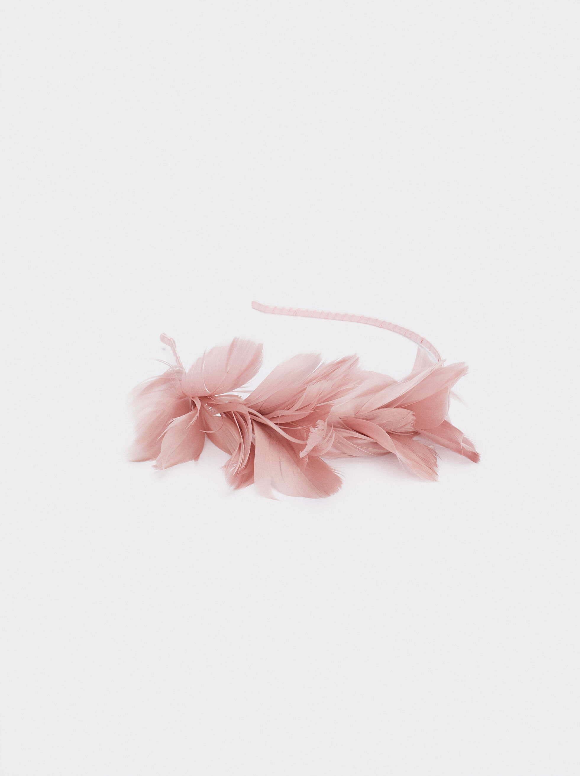 Headband With Feathers, Pink, hi-res