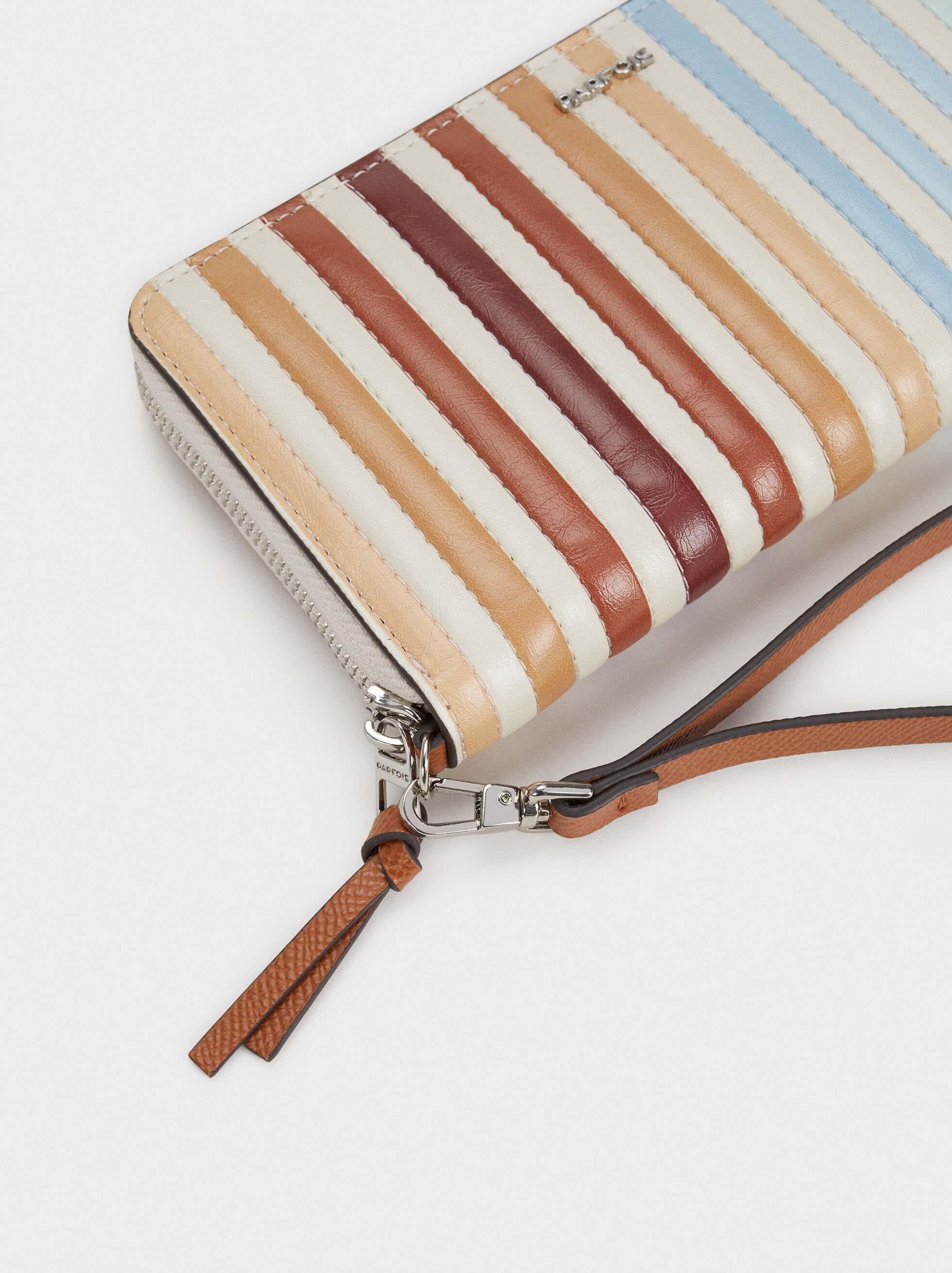 Large Striped Purse, Blue, hi-res