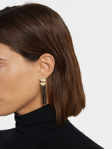 Blog Earrings, Golden, hi-res