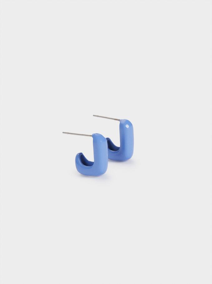 Kolczyki W Ksztalcie Kwadratu, Niebieski, hi-res