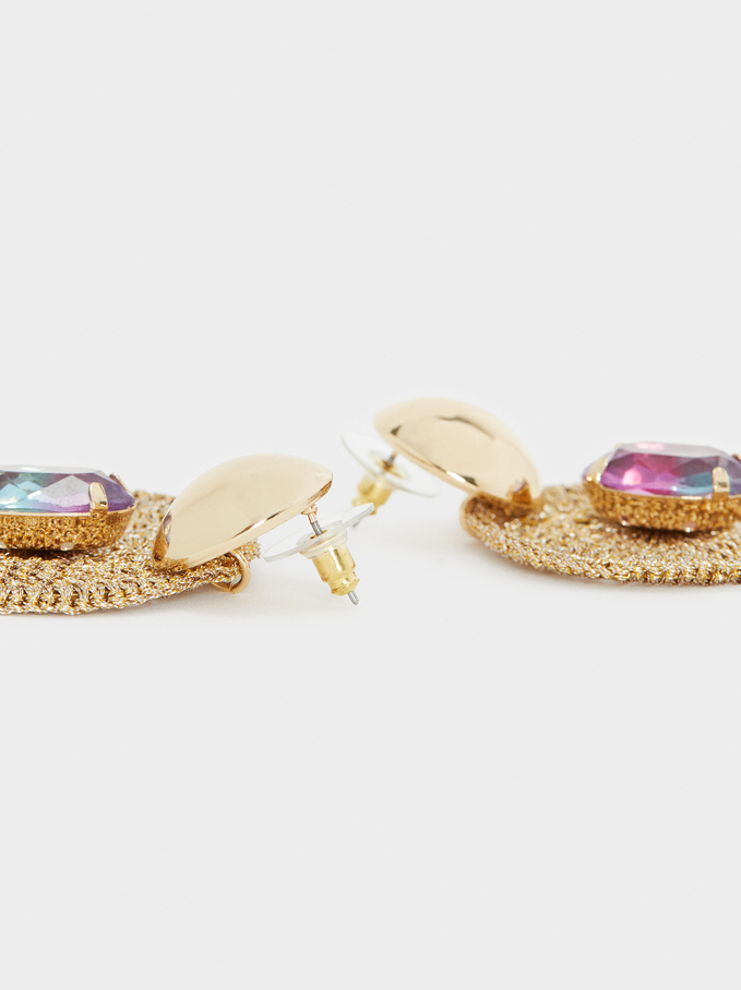 Long Multi-Coloured Drop Earrings, Multicolor, hi-res