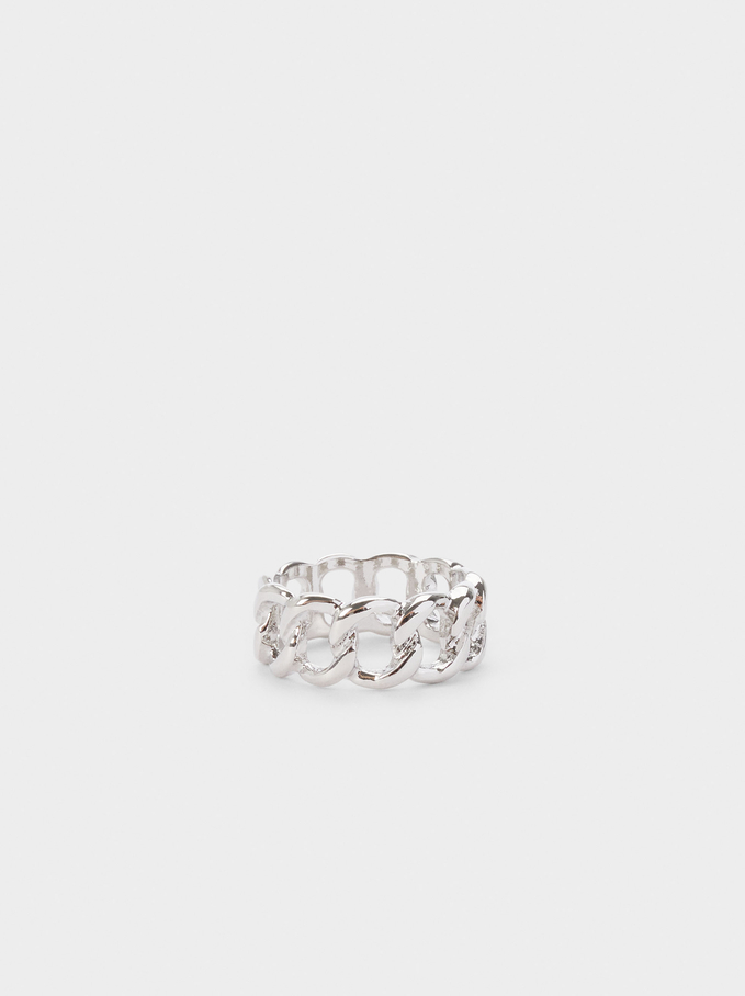 Woven Ring, Silver, hi-res