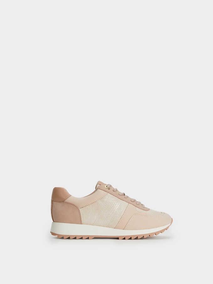 Zapatillas Suela Contraste, Rosa, hi-res