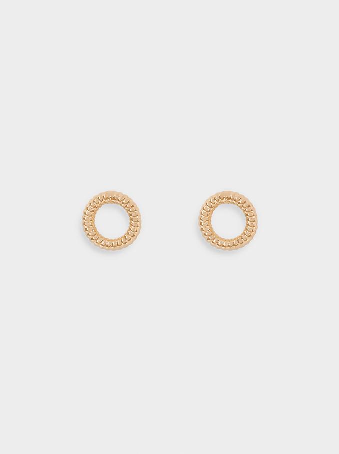 Short Gold Earrings, Golden, hi-res