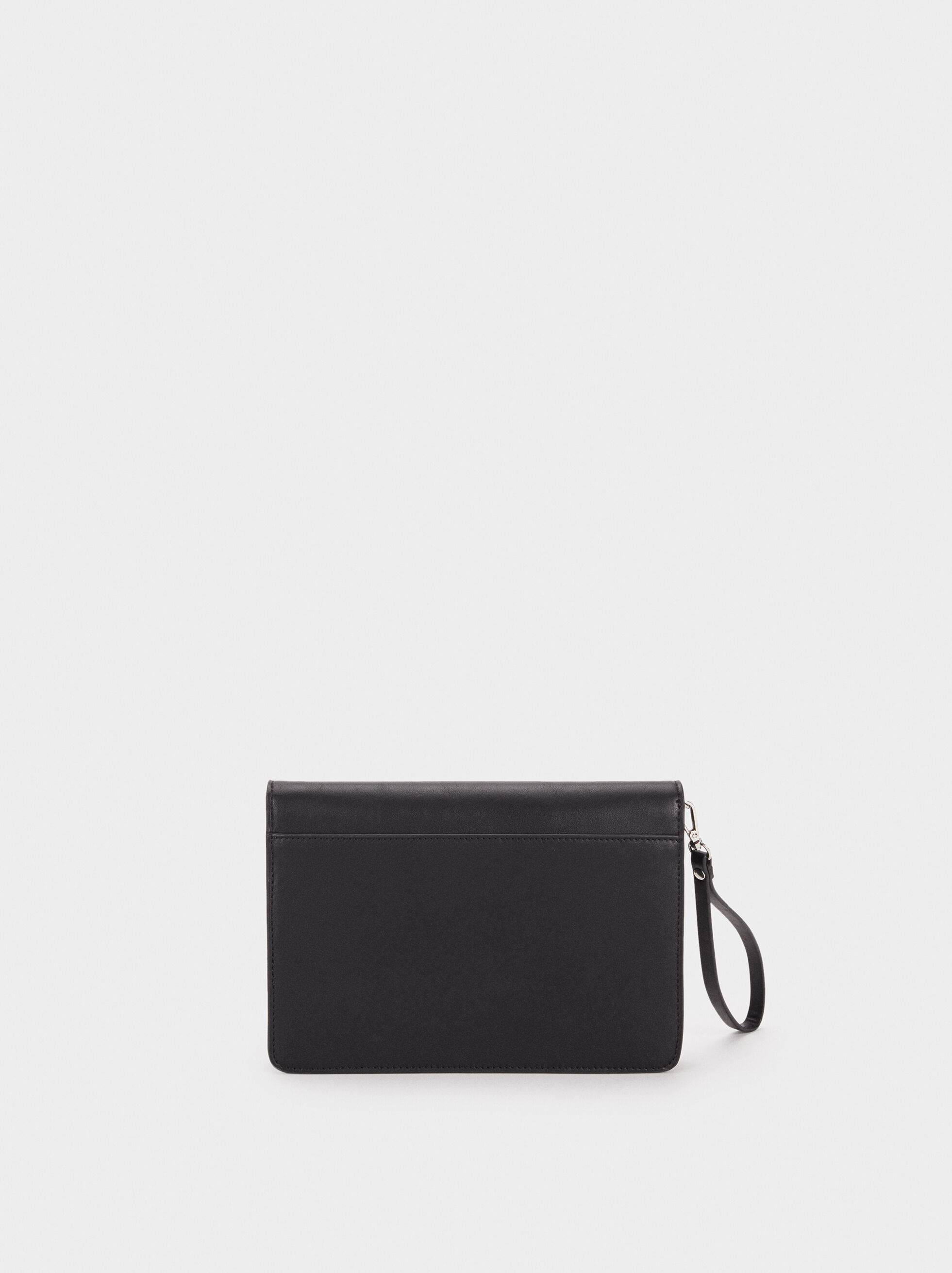 Party Clutch With Handle, Black, hi-res