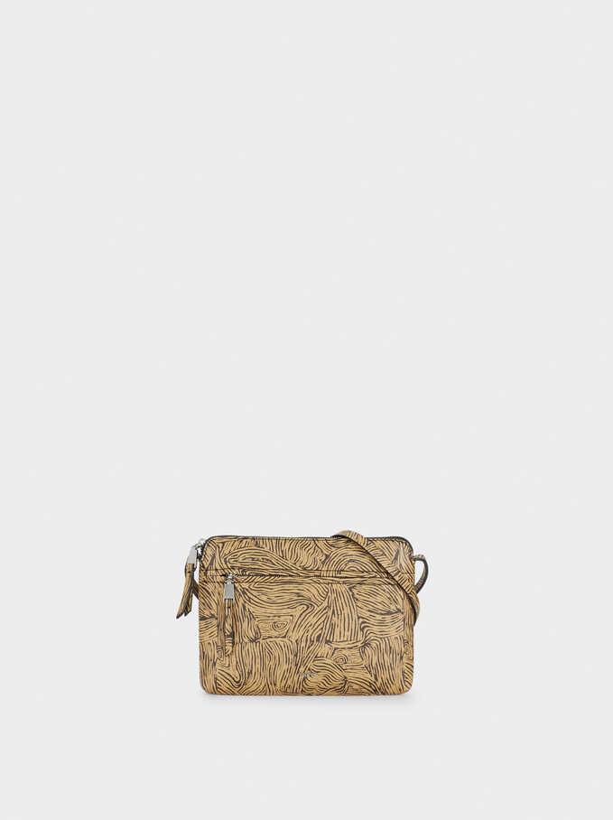 Printed Crossbody Bag, Beige, hi-res