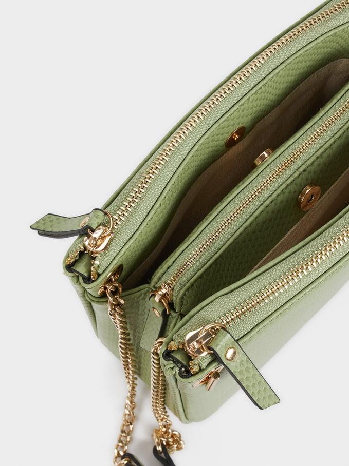 Animal Embossed Crossbody Bag, Green, hi-res