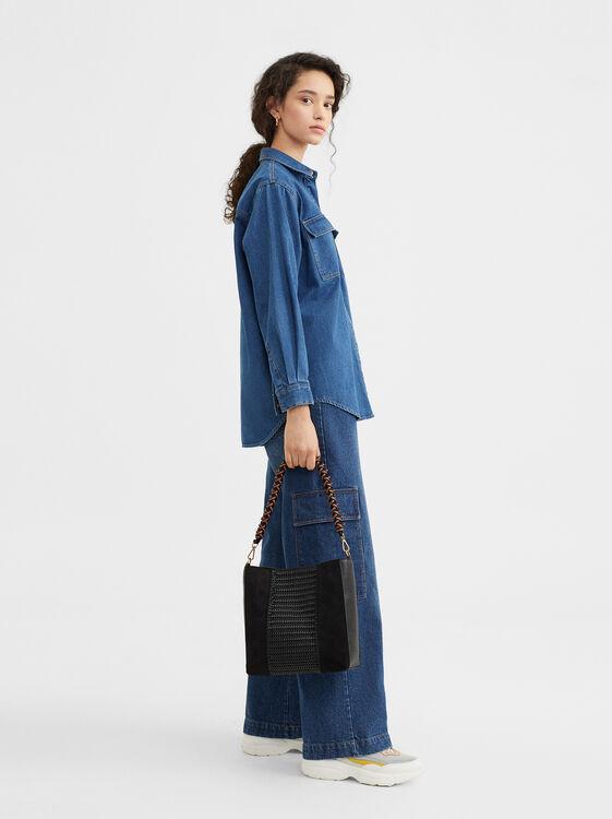 Handbag With Braided Strap, , hi-res