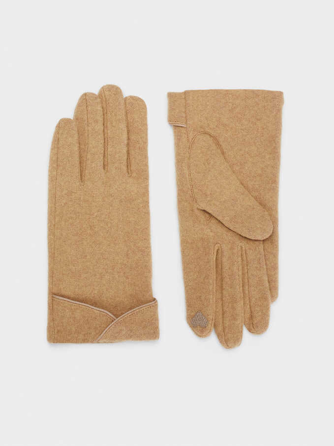 Wool Gloves, Camel, hi-res