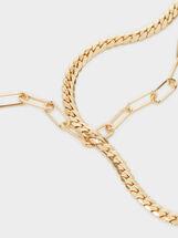 Chain Necklace Set, Golden, hi-res