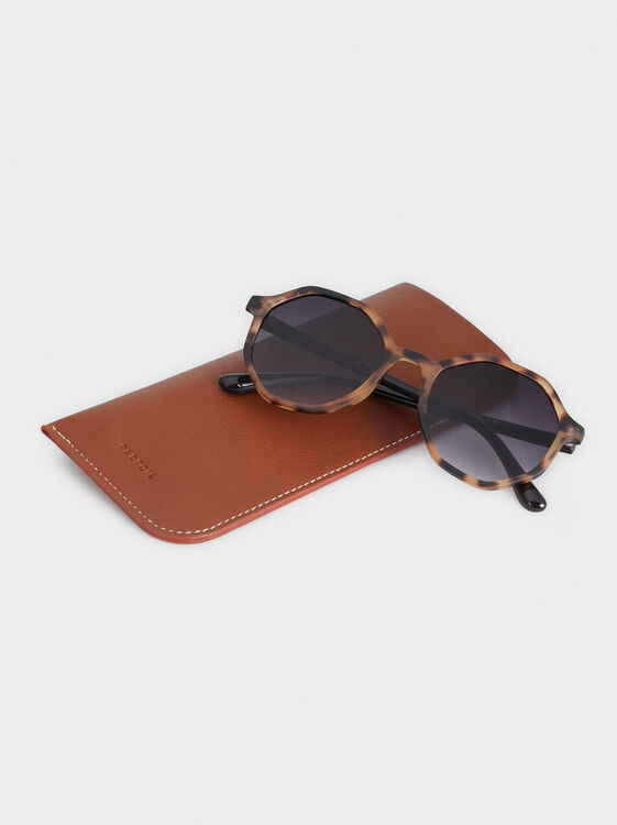 Tortoiseshell Sunglasses, Brown, hi-res