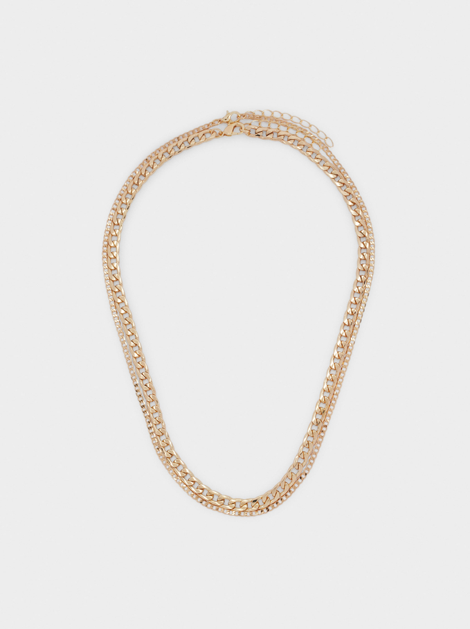 Set Of Gold-Toned Chain Necklaces, Golden, hi-res