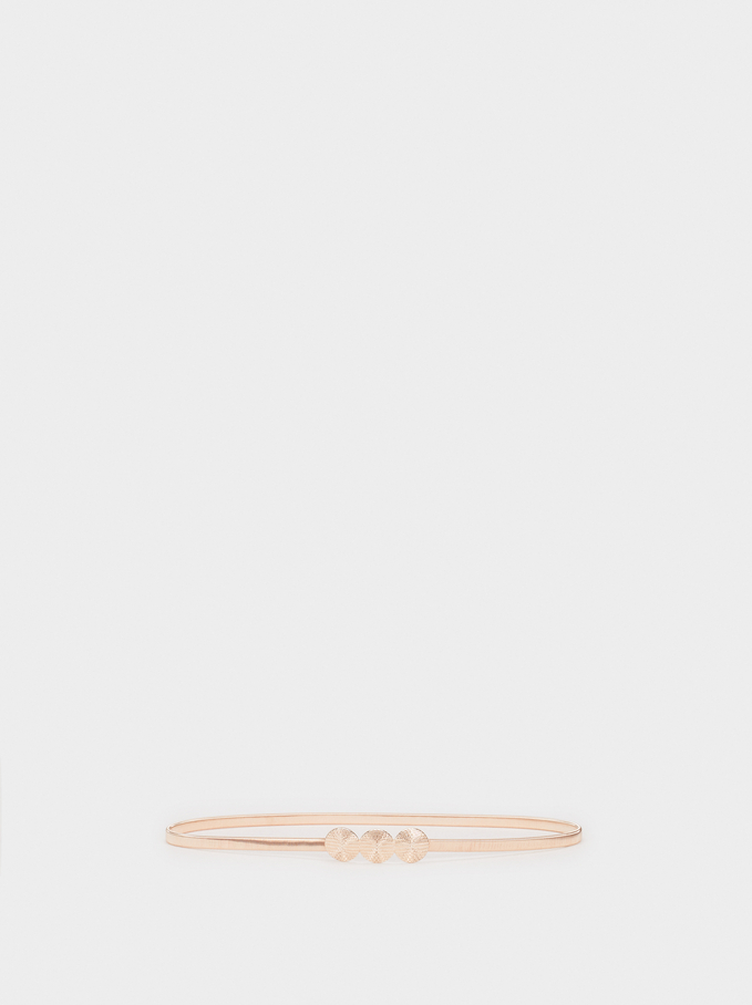 Stretch Metal Belt, Orange, hi-res