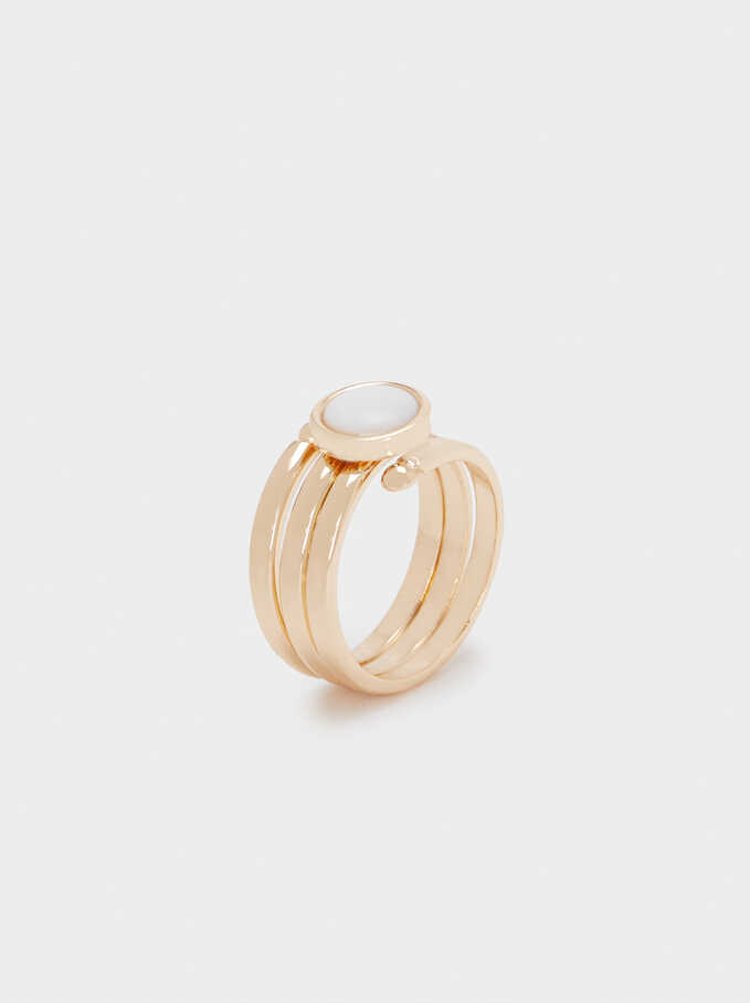 Seashell Ring, Golden, hi-res