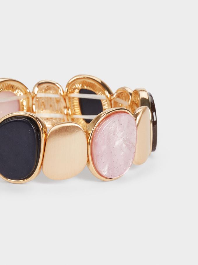 Geometric Elastic Bracelet, Multicolor, hi-res