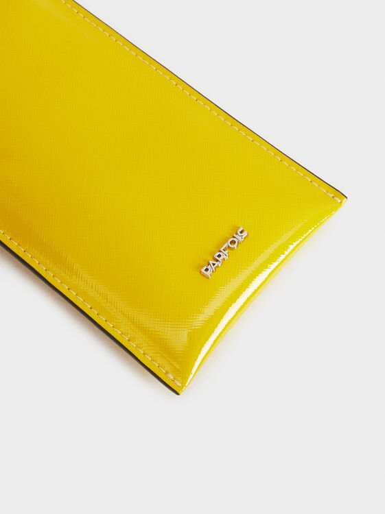 Patent Finish Glasses Case, Yellow, hi-res