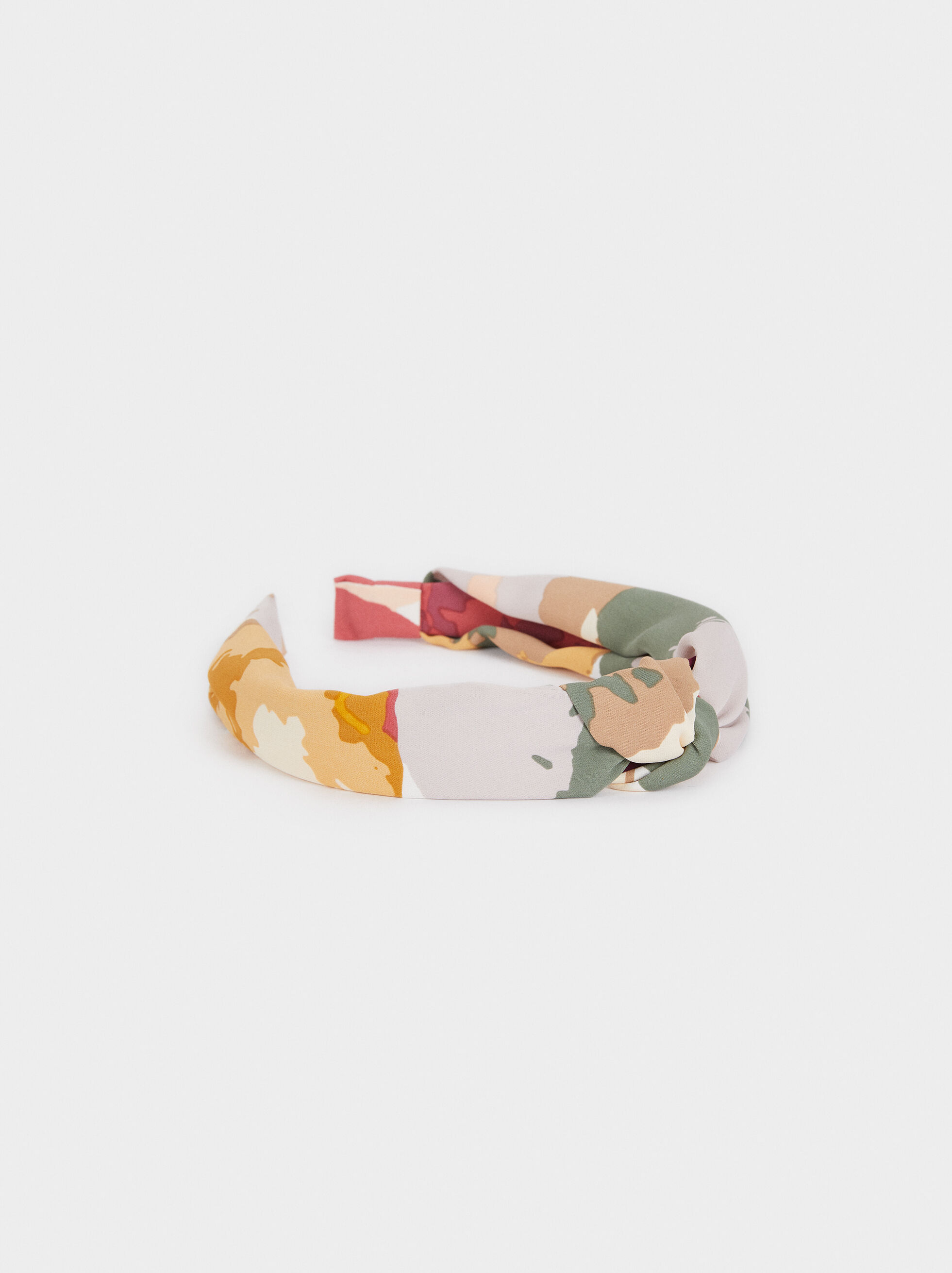 Multicoloured Printed Headband, Multicolor, hi-res