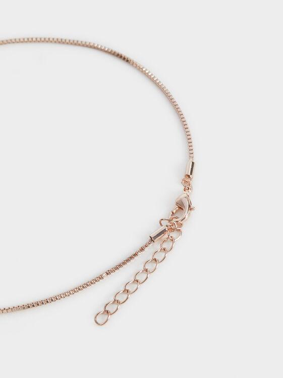 Pink Desert Short Necklace With Pendant, Orange, hi-res