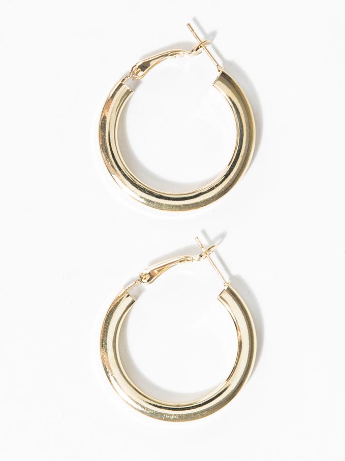Basic Grandes Hoop-Earrings, Golden, hi-res