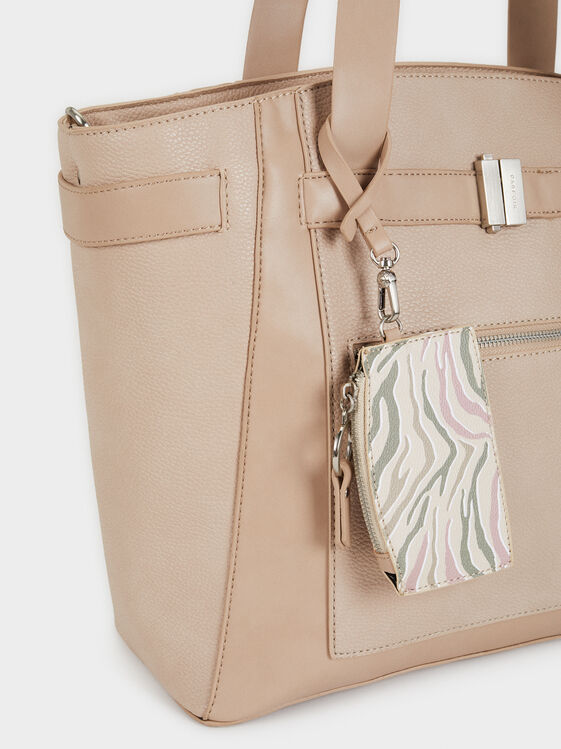 Briefcase With Tassels, Ecru, hi-res