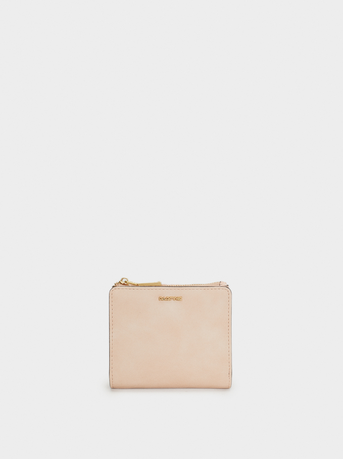 Plain Small Purse, Beige, hi-res