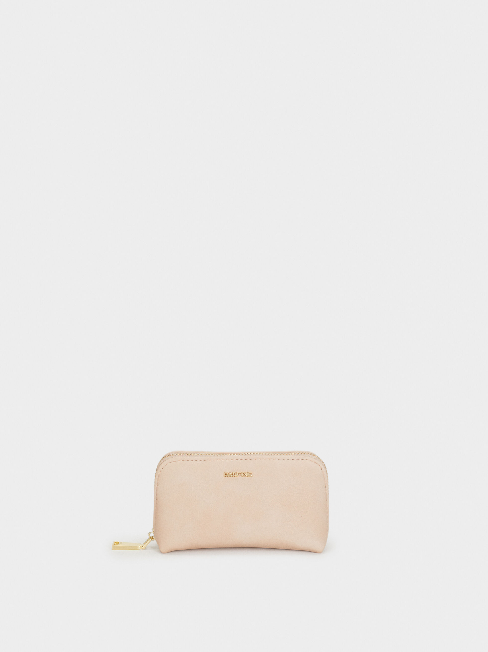 Plain Medium Purse, Beige, hi-res