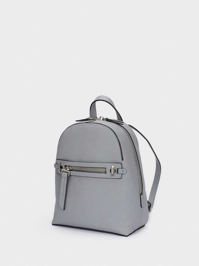 Backpack With Outer Pocket, Blue, hi-res
