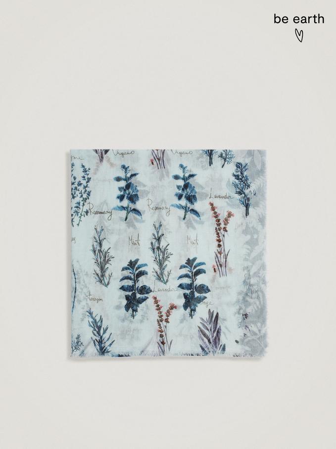 Pañuelo Estampado Confecionado Con Materiales Reciclados, , hi-res