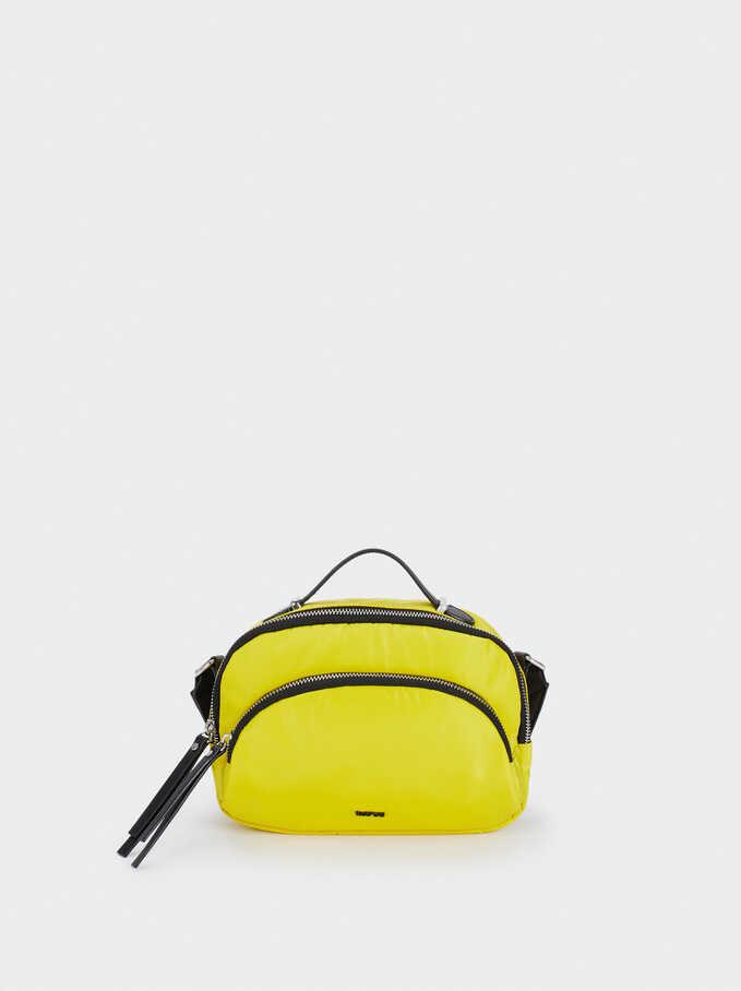 Nylon Crossbody Bag, Yellow, hi-res