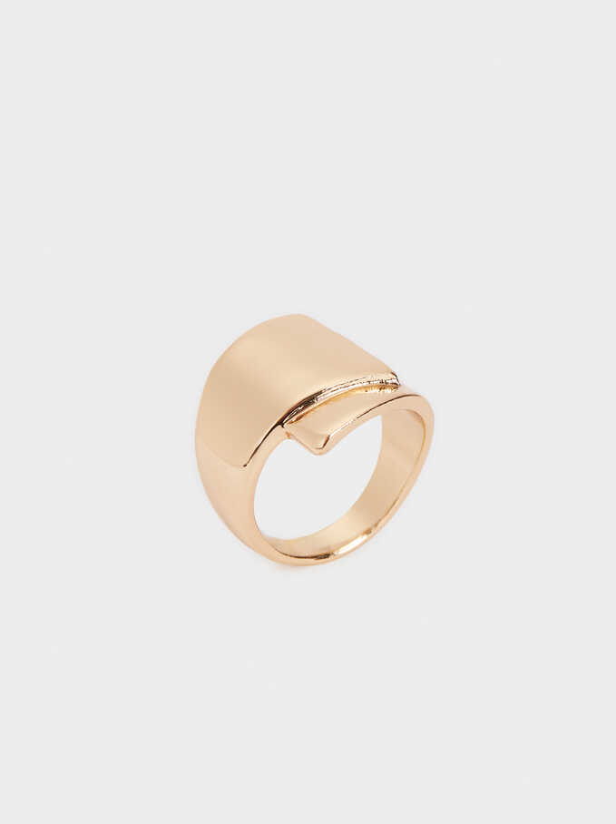 Gold-Toned Ring, Golden, hi-res